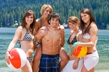 young adults at beach